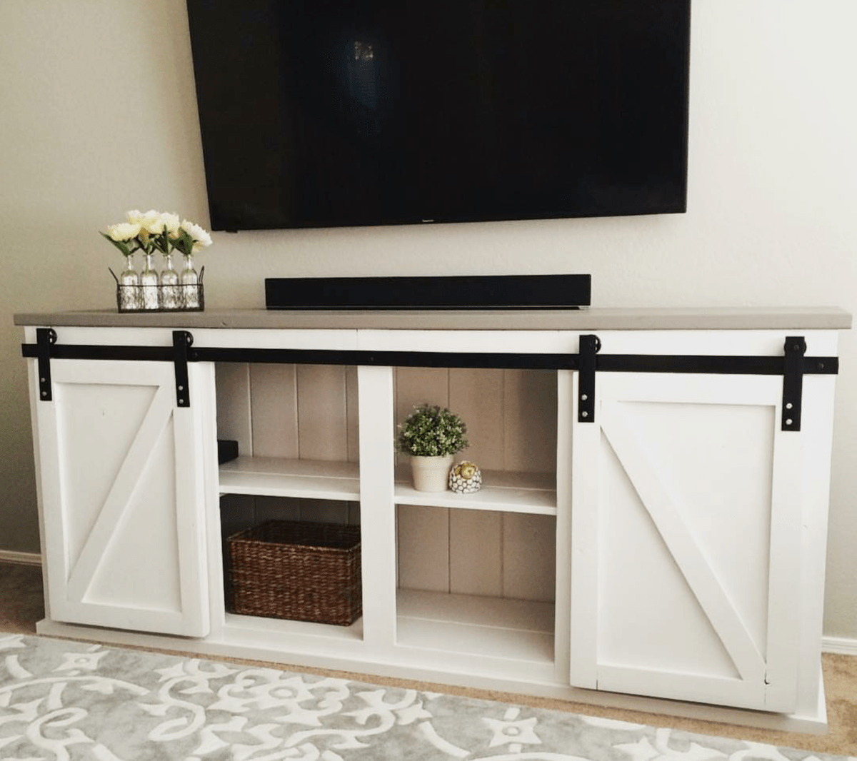 Ana White Sliding Door Console DIY Projects