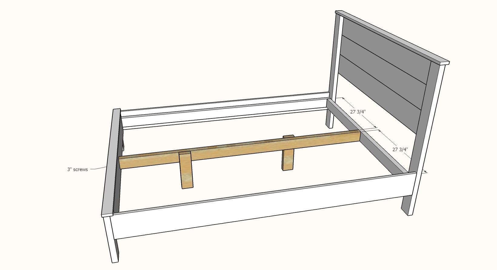 Simple Panel Bed Queen