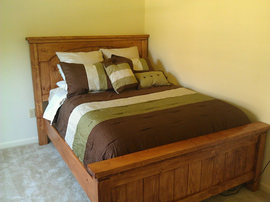 Ana White Queen Farmhouse Bed With Arch DIY Projects