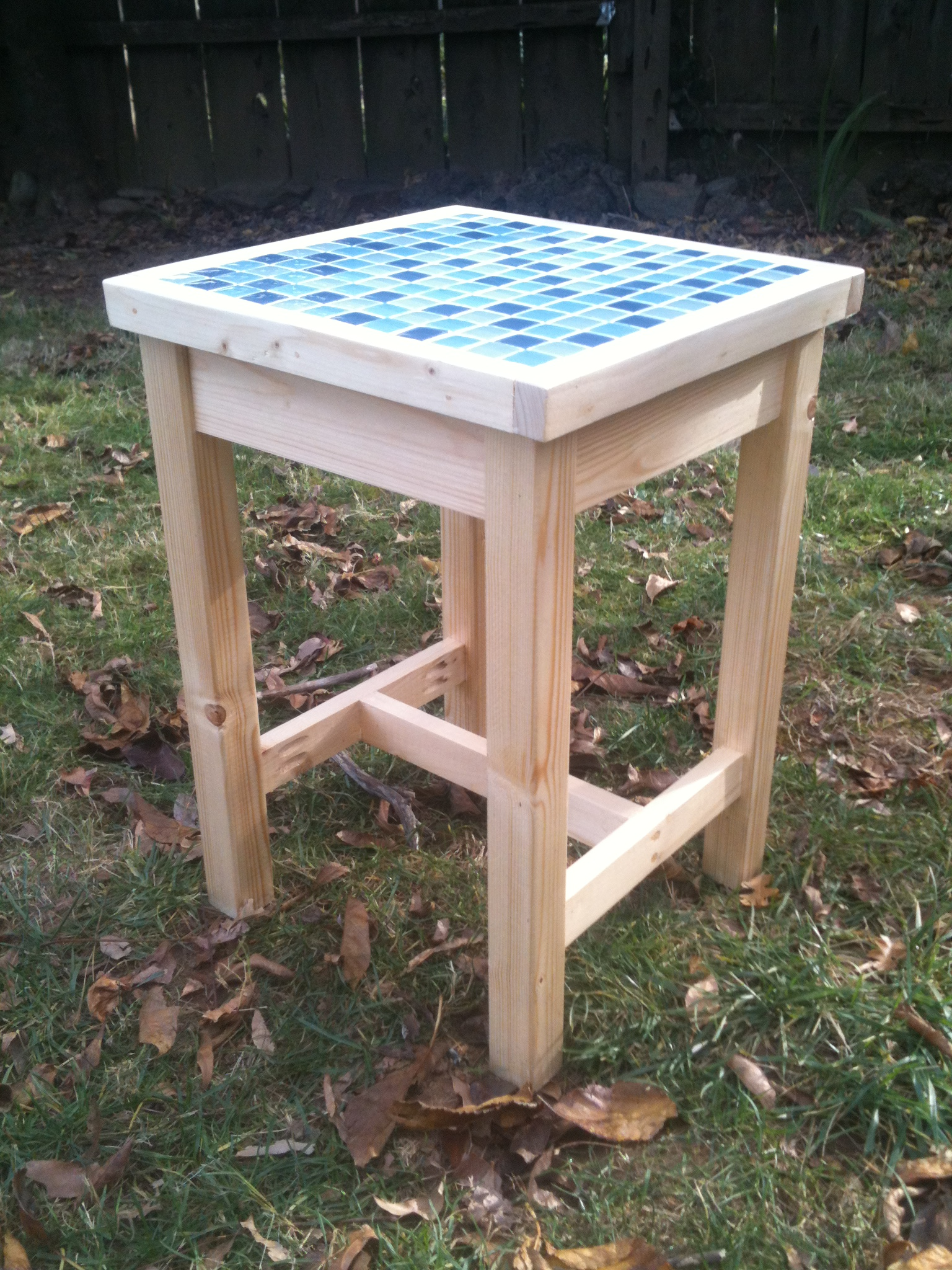 adirondack table with modified top