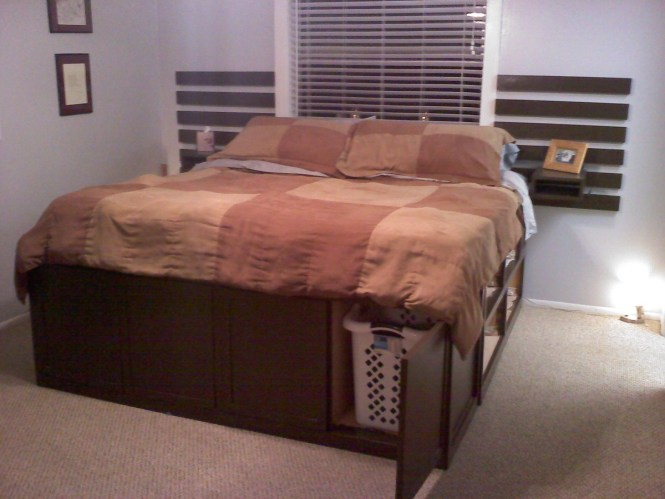 King Size Storage Bed Highly Modified