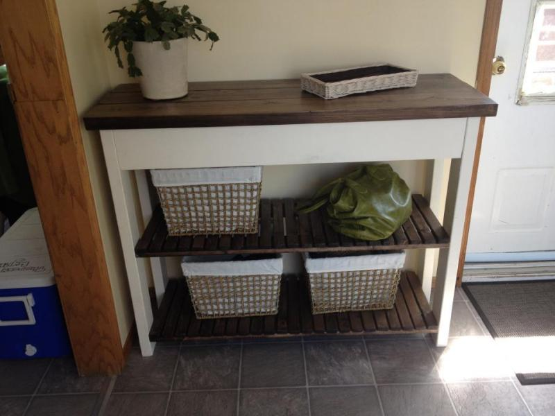Ana White   Entryway Shelf   DIY Projects