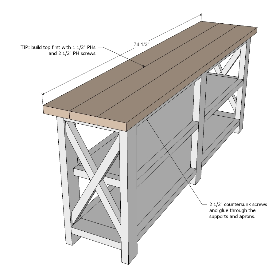 Rustic X Furniture Plans