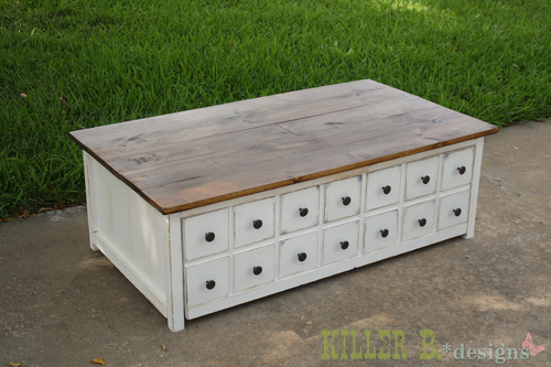 ana white | apothecary coffee table with toybox trundle - diy projects