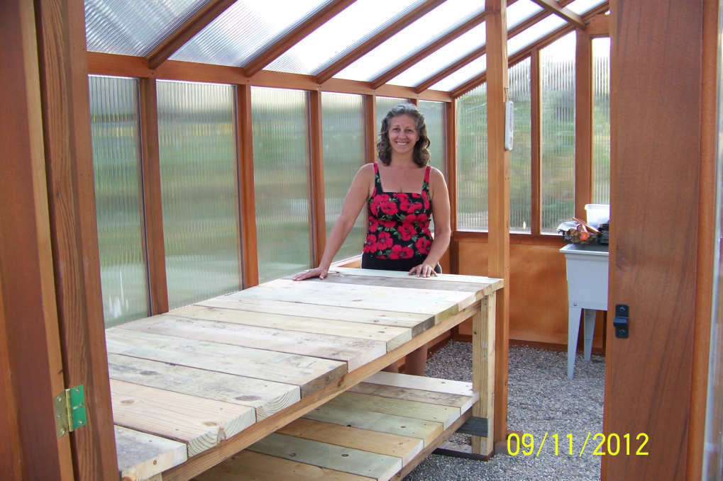 Ana White Heavy Bench For New Greenhouse Modified Farmhouse Table DIY Projects
