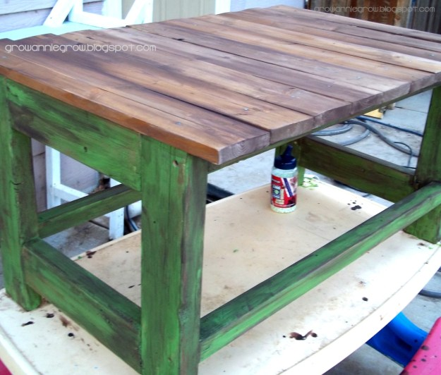ana white | rustic reclaimed & scrap wood end table - diy projects