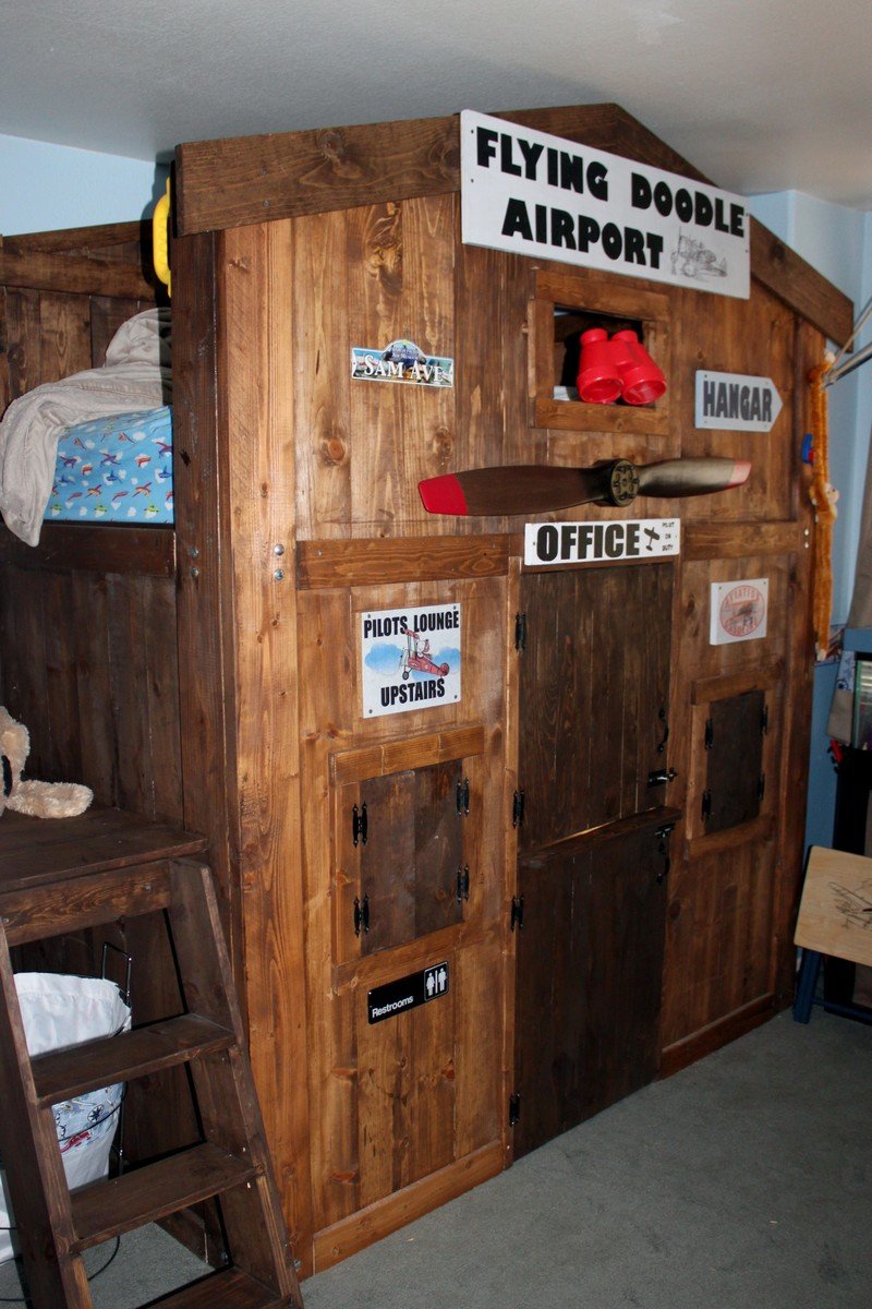 Ana White Vintage Airport Loft Bed Diy Projects