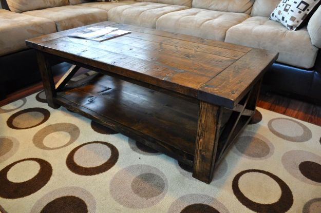 ana white | farmhouse style rustic x coffee table - diy projects