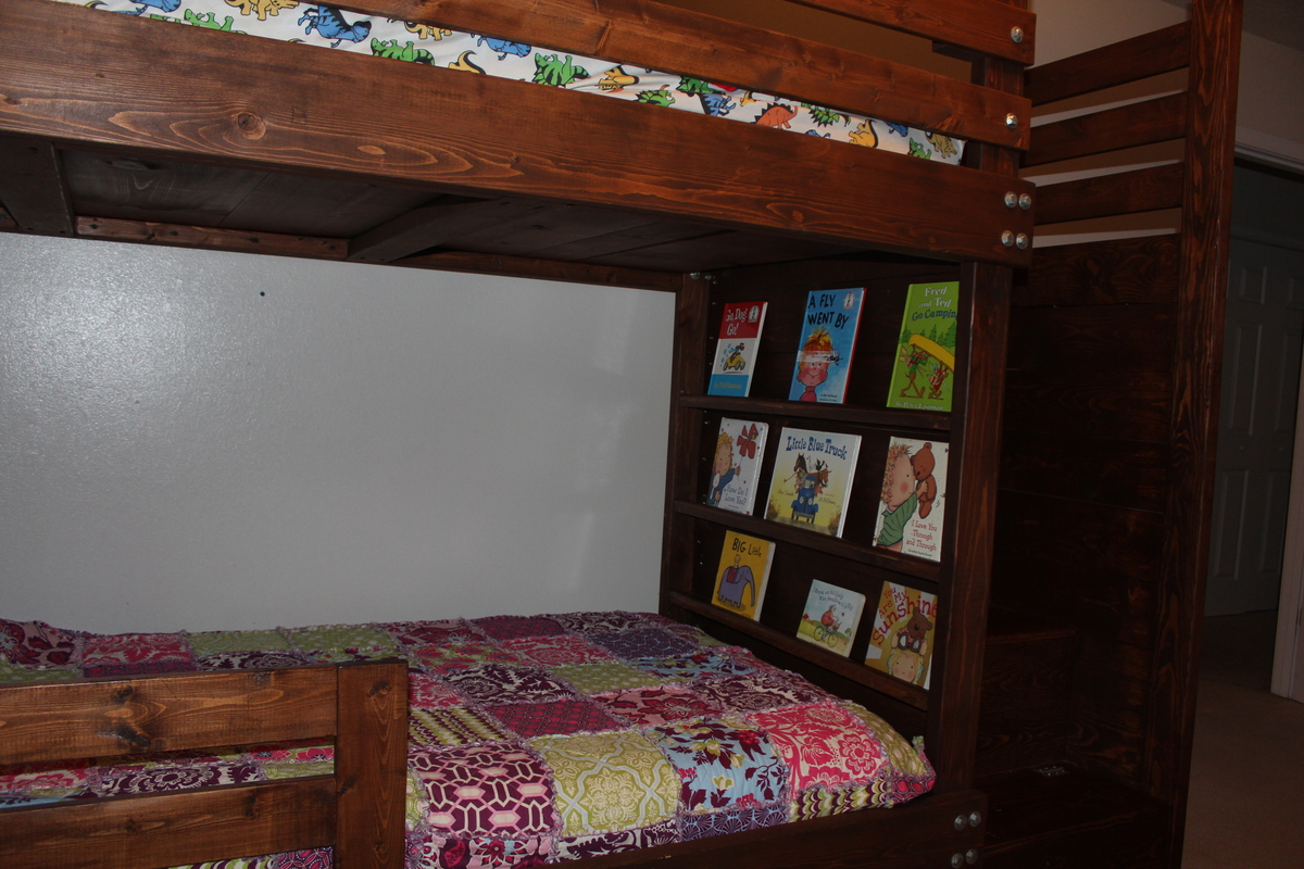 Ana White Bunkbed With Bookshelves Stairs And Storage