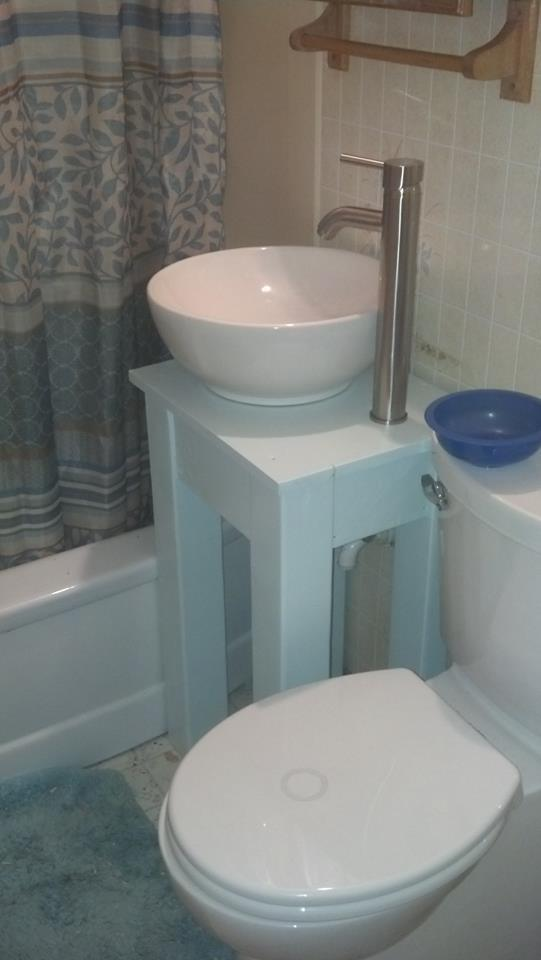Ana White Small Country Vessel Sink Vanity DIY Projects