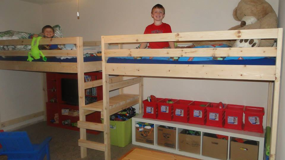 Ana White Double Twin Camp Loft Bed DIY Projects