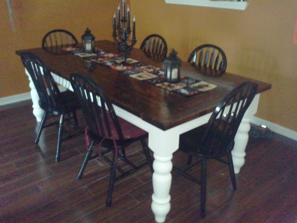 Small Dark Wood Dining Table