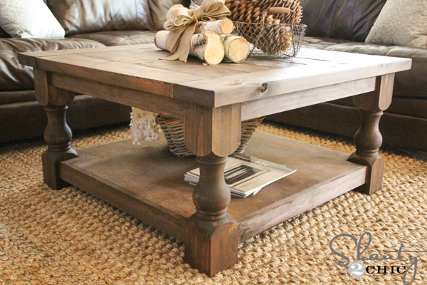 ana white | corona coffee table - square - diy projects