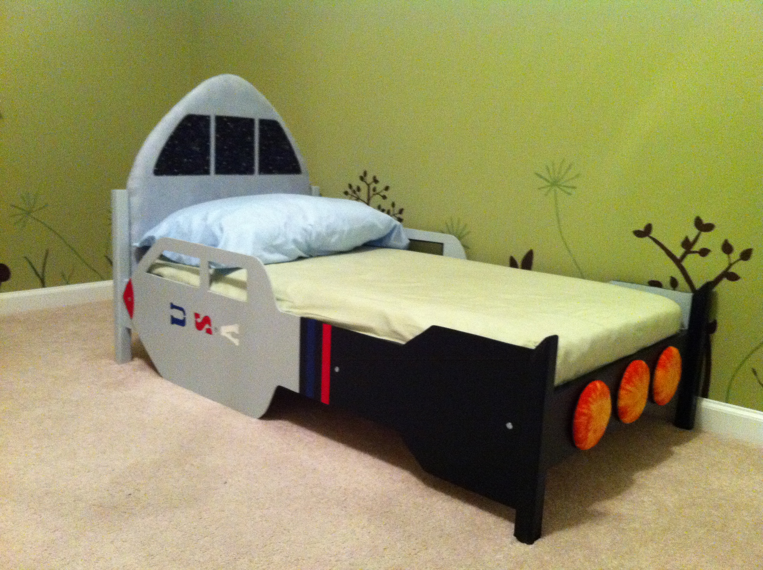 Ana White Rocketship Toddler Bed Diy Projects
