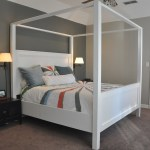 Modern King Farmhouse Bed With Canopy Ana White