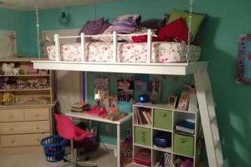 Ana White Hanging Loft Bed Diy Projects