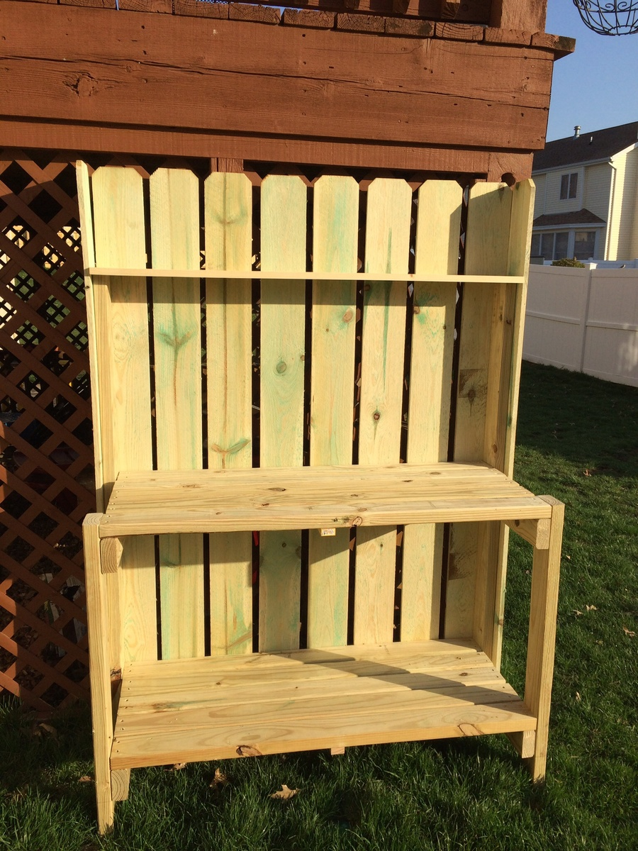 Ana White Simple Potting Bench Customized Diy Projects