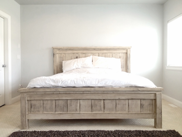 Ana White King Farmhouse Bed DIY Projects
