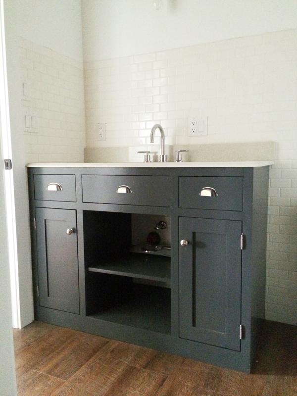 ana white | simple gray bath vanity - diy projects