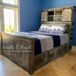 Grandy Barn Door Console Headboard With Farmhouse Storage Bed Ana White