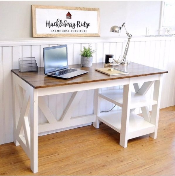 Ana White   Farmhouse X Desk   DIY Projects Farmhouse X Desk for the Home Office