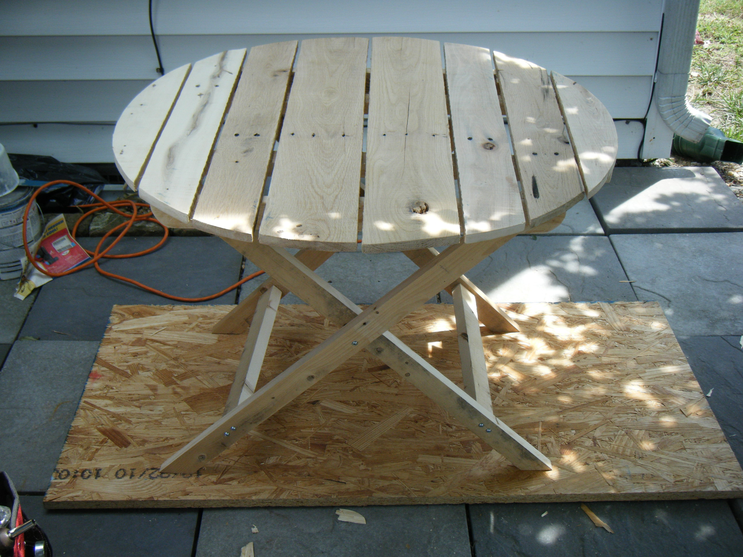 Ana White Adirondack Side Table Using Recycled Pallet