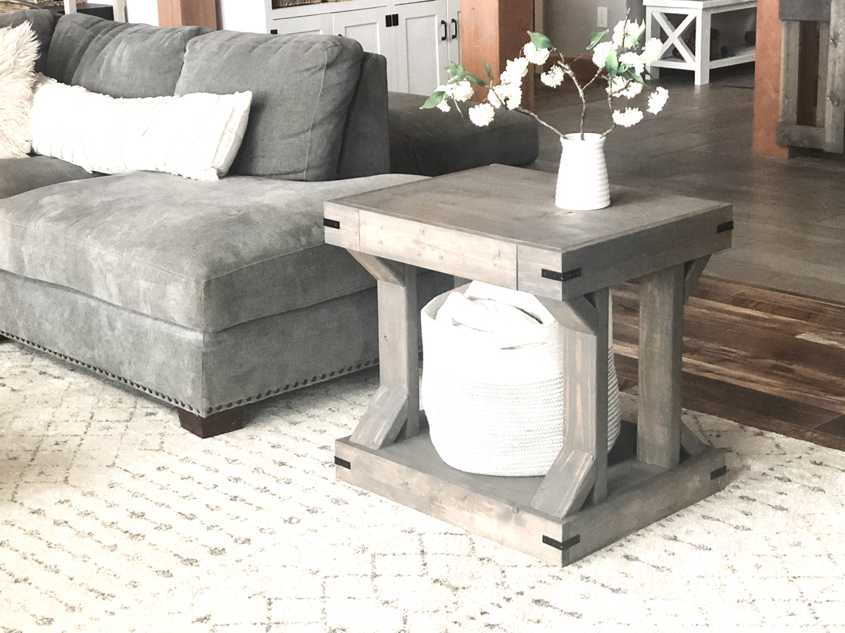 side table modern farmhouse collection