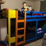 Colorful Bunk Beds With Wraparound Shelves Ana White