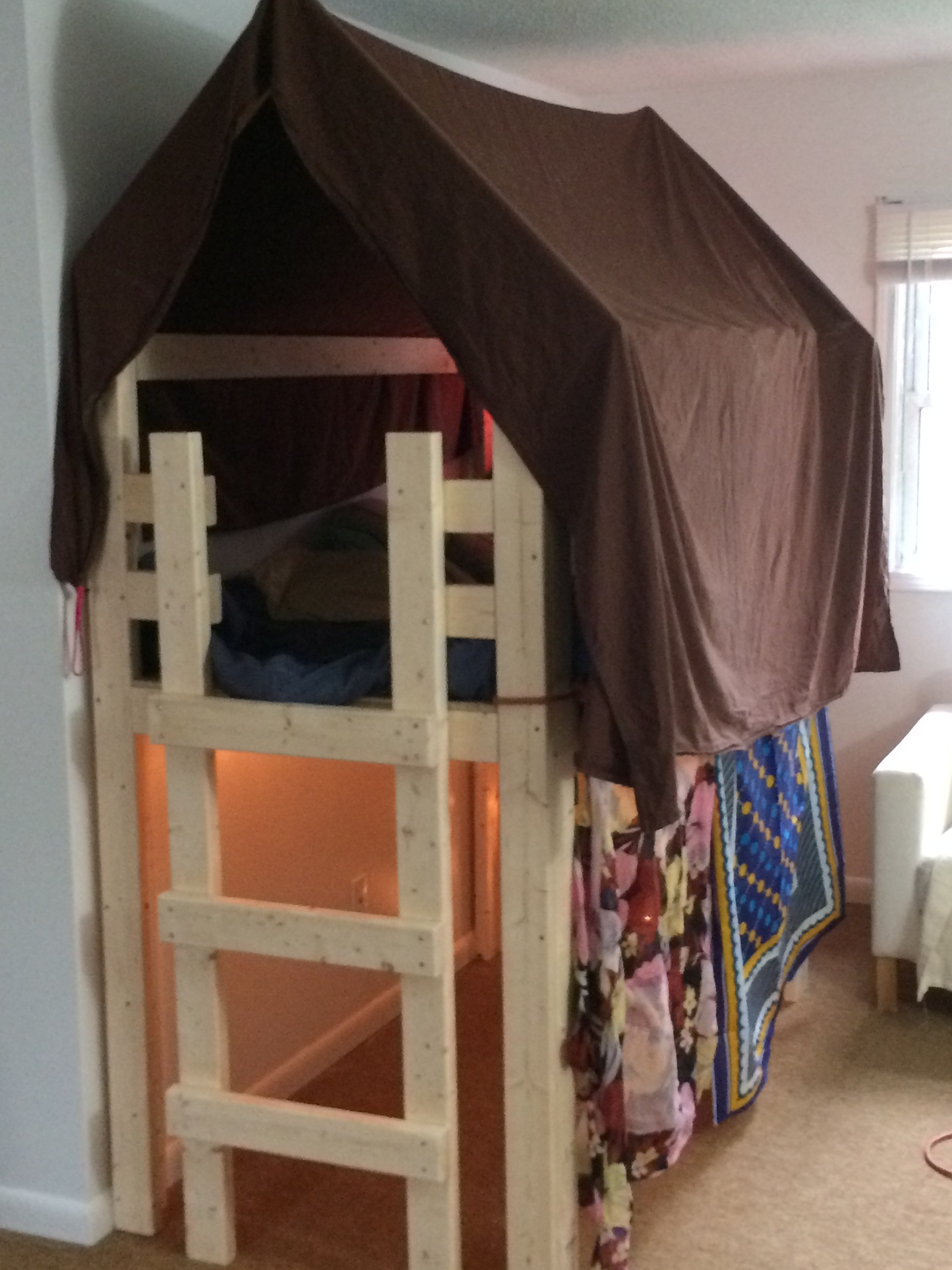 Ana White Over Bed Indoor Playhouse Loft Diy Projects