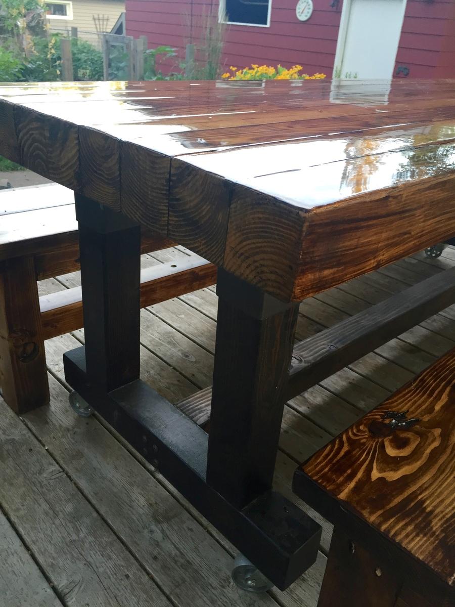 Ana White Butcherblock Farmhouse Table And Benches DIY