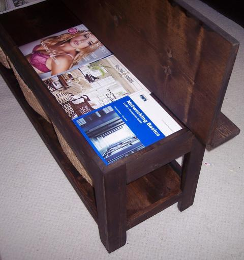 ana white | flip top storage bench / coffee table - diy projects