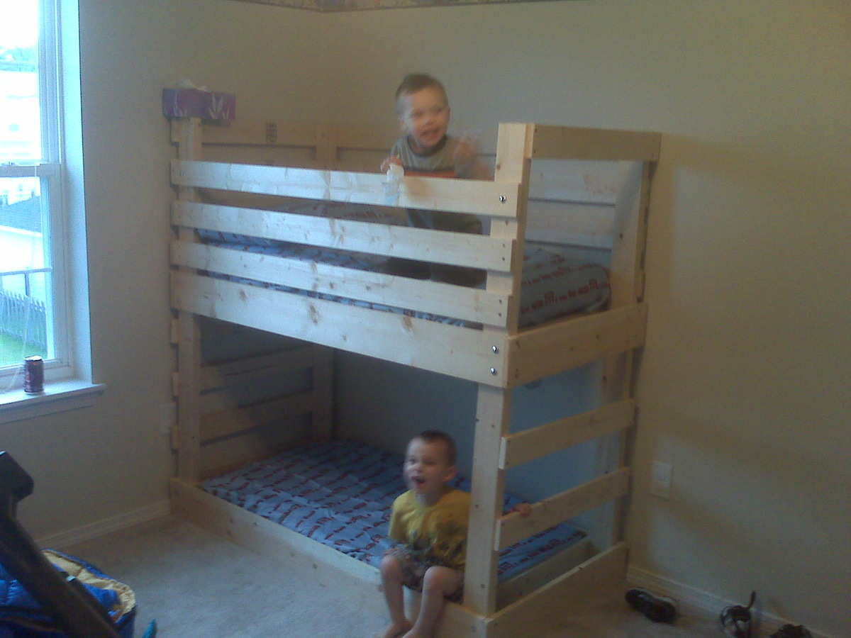Ana White My Son S Castle Bed With Slide Diy Projects