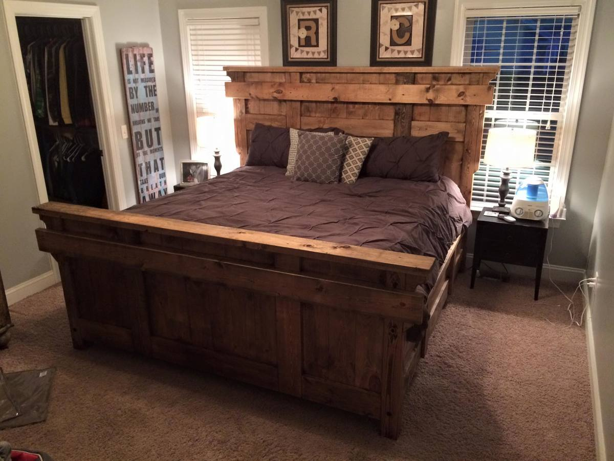 Ana White King Farmhouse Bed Frame