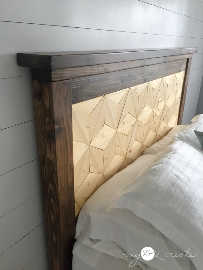 Ana White Farmhouse Storage Bed With Geometric Pattern DIY Projects