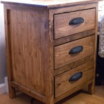 Reclaimed Wood Look Bedside Table Ana White