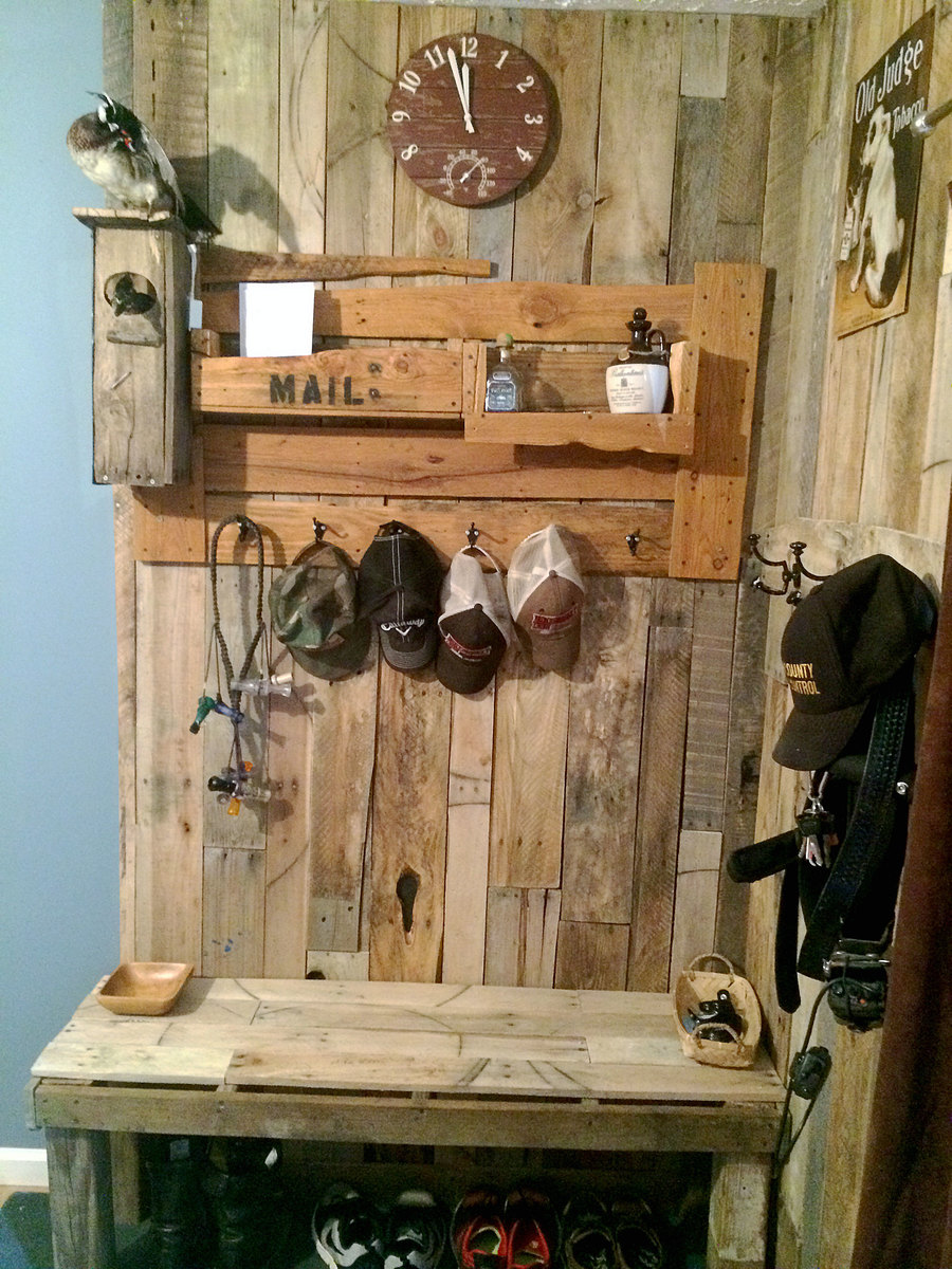 Ana White Mudroom Wall And Bench DIY Projects