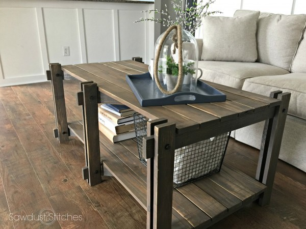 ana white | rustic farmhouse coffee table featuring sawdust 2