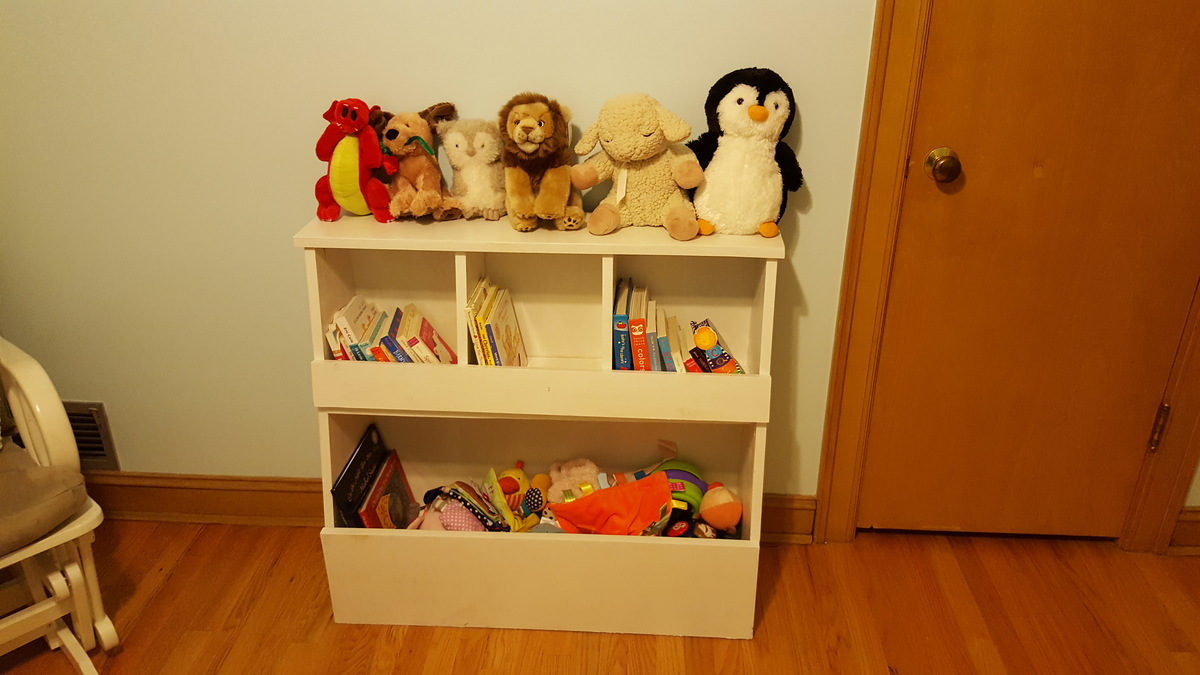 Ana White Toy Storage Bin Box With Cubby Shelves DIY