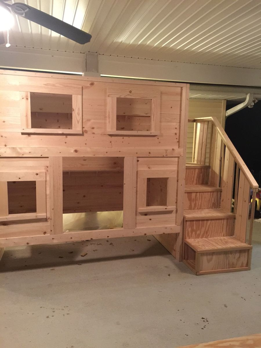Ana White Cabin Bunk Bed For Dima Diy Projects