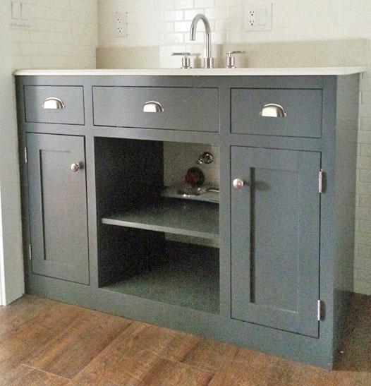 simple gray bathroom vanity ana white