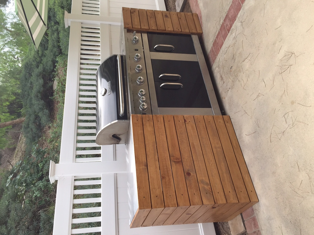 Ana White BarbecueBBQ Quick Built In DIY Projects