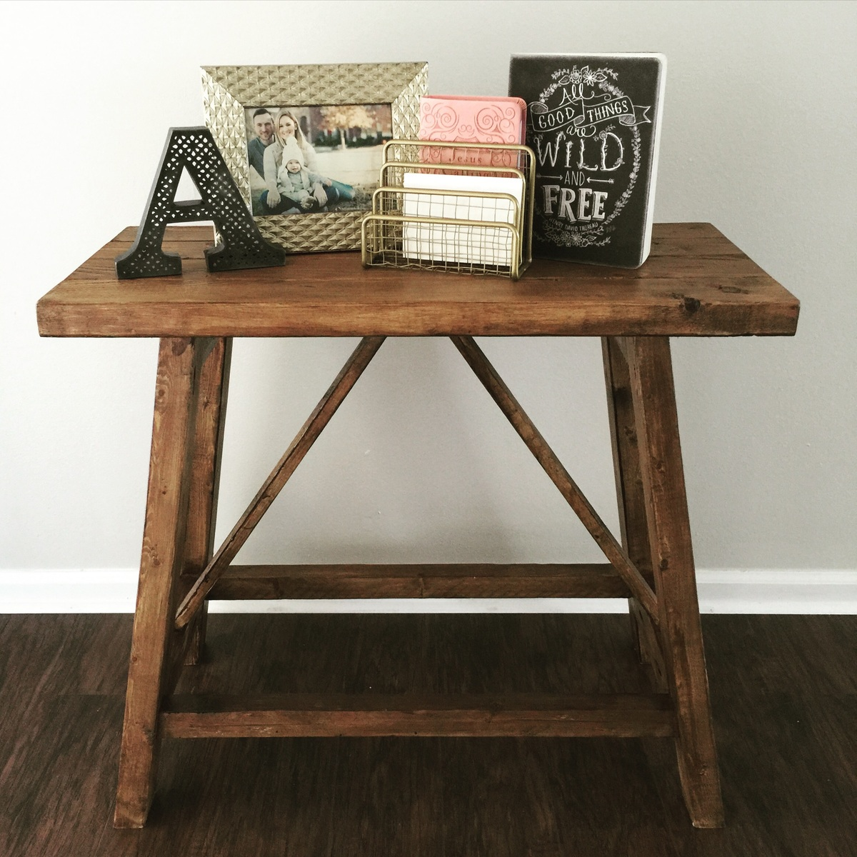 Ana White Pottery Barn Inspired Truss End Tables Diy