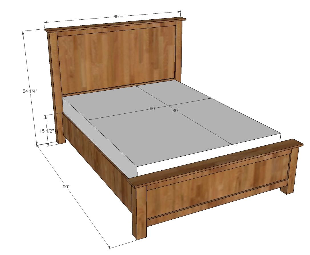 Woodwork Wood Queen Bed Plans Plans
