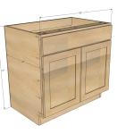 36 Sink Base Kitchen Cabinet Momplex Vanilla Kitchen Ana White