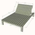 Modern Double Outdoor Chaise Lounger Ana White