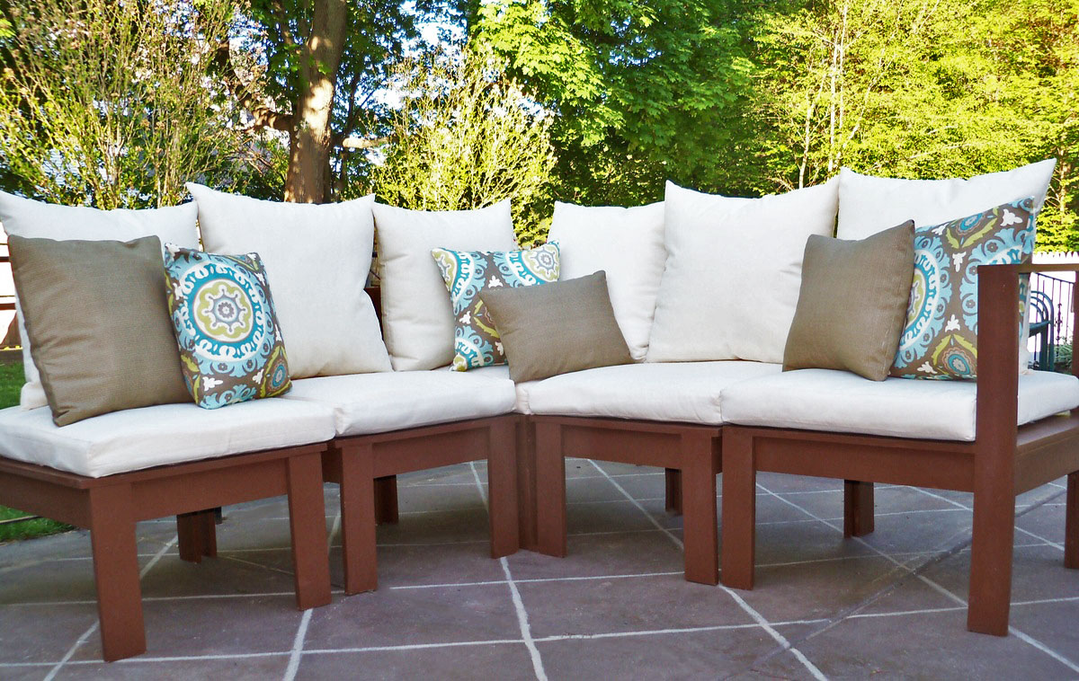 simple modern outdoor sectional