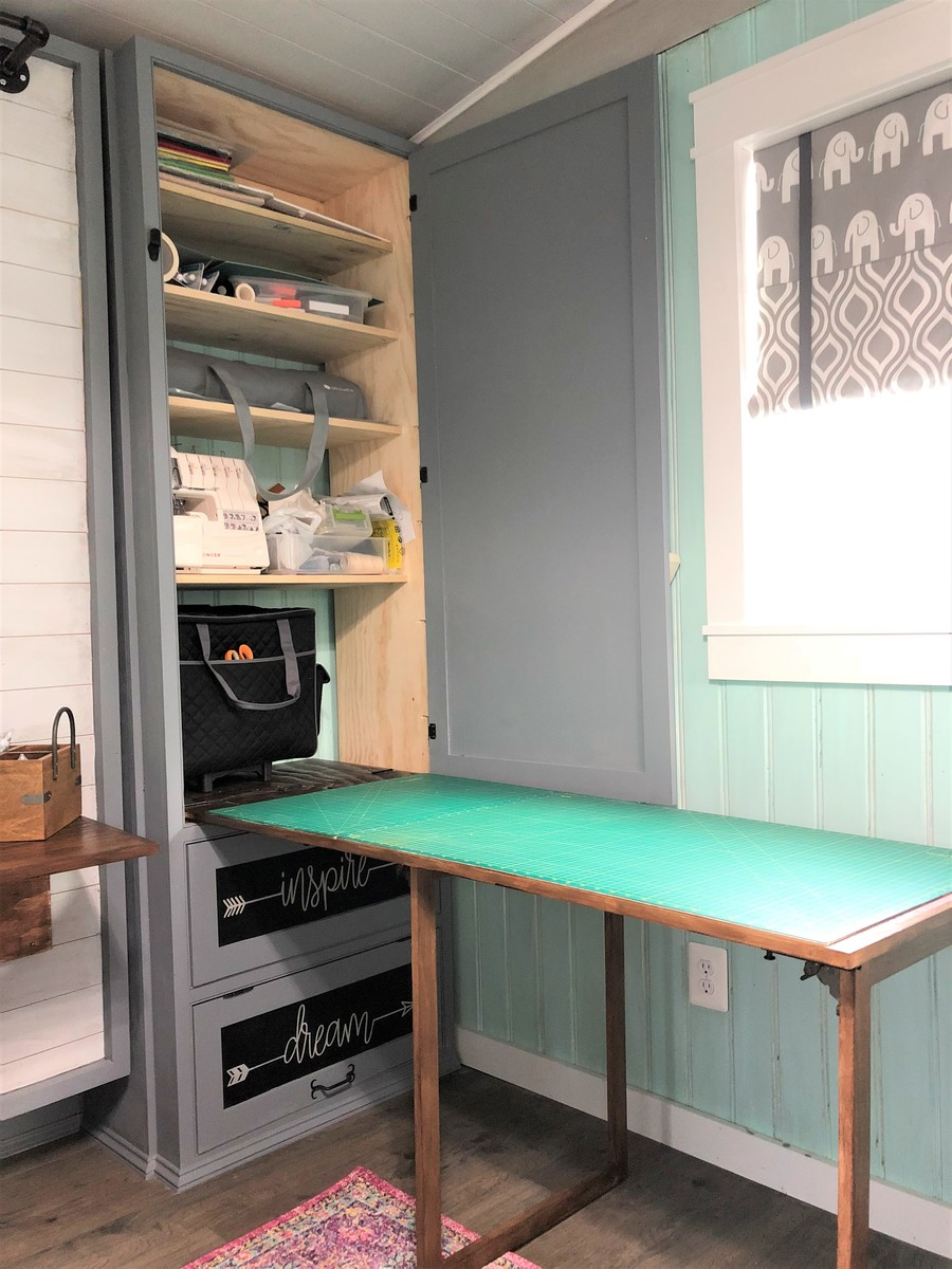 Ana White She Shed Guest Room Craft Room Office