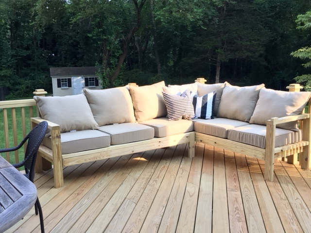 one arm 2x4 outdoor sofa sectional