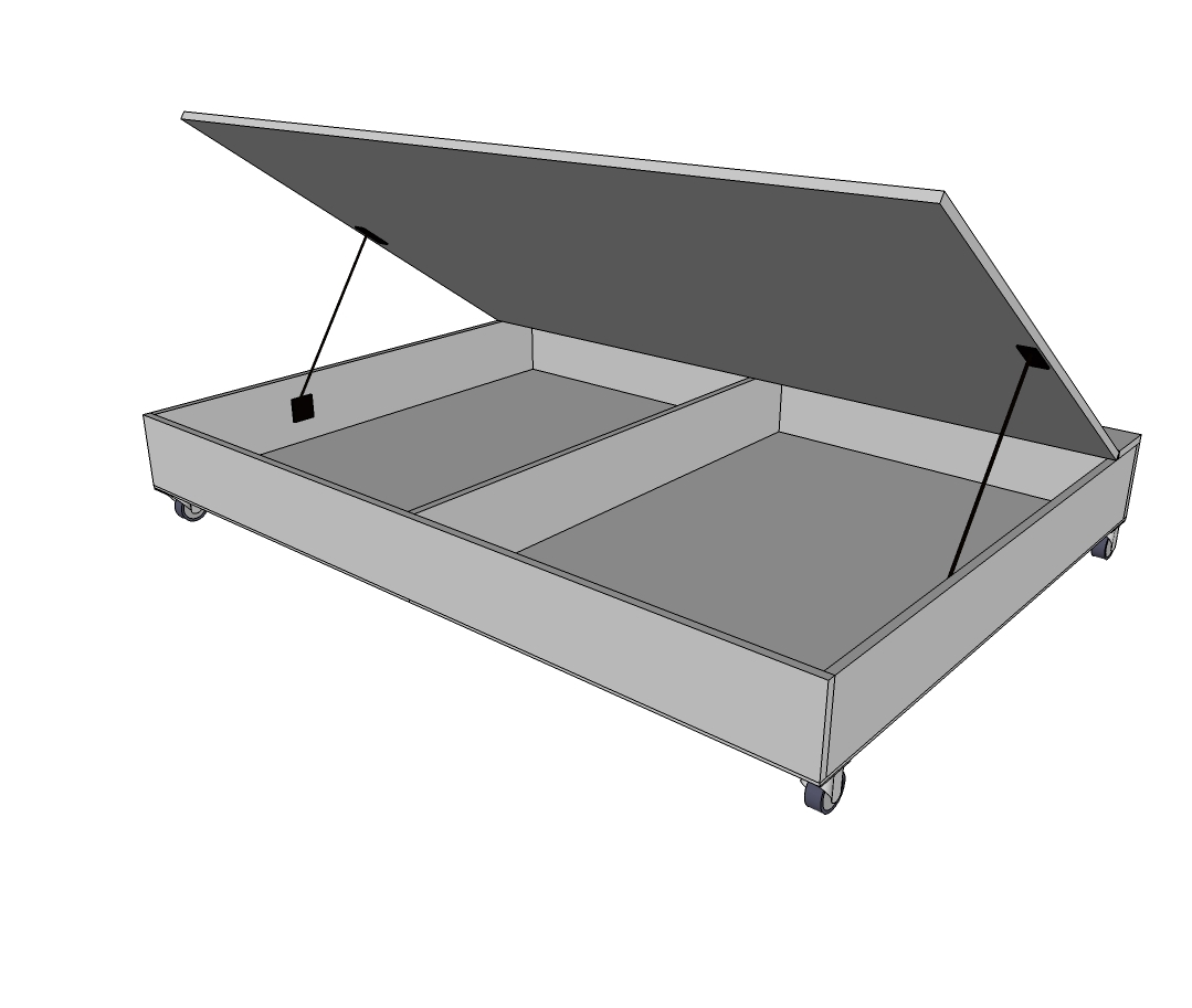 Ana White Queen Size Lift Storage Bed