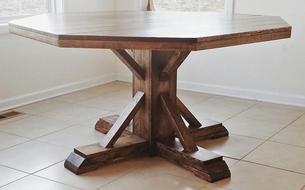 Benchmark Pedestal Base Octagon Table Ana White